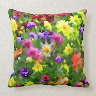 Floral Impressions Throw Pillows