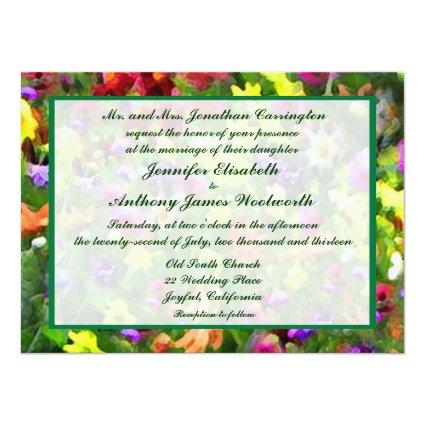 Floral Impressions Wedding 5.5x7.5 Paper Invitation Card
