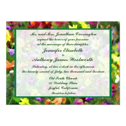 Floral Impressions Wedding 5.5x7.5 Paper Invitation Card