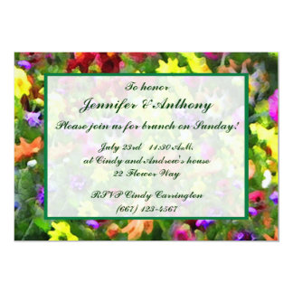 Floral Impressions Wedding Brunch Card