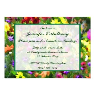 Floral Impressions Wedding Brunch Personalized Invitations