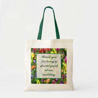 Floral Impressions Wedding Favor Tote Bag