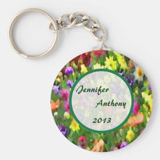 Floral Impressions Wedding Basic Round Button Keychain
