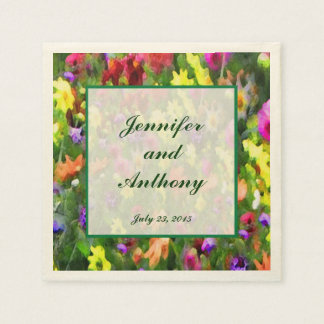 Floral Impressions Wedding Disposable Napkin