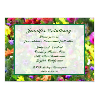 Floral Impressions Wedding Reception Card