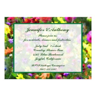 Floral Impressions Wedding Reception Personalized Invitation