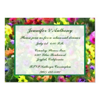 Floral Impressions Wedding Rehearsal Dinner Custom Announcements