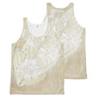 Floral Imprint All-Over-Print Tank Top