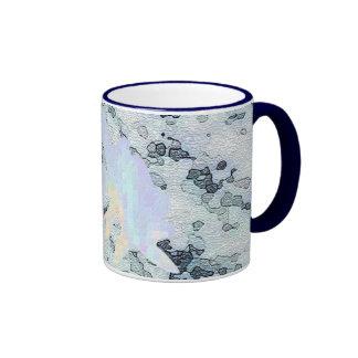 Floral Imprint Ringer Mug