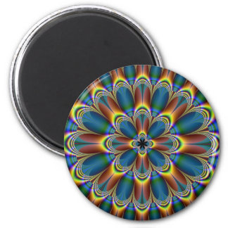 Floral in Bronze and Green Magnet