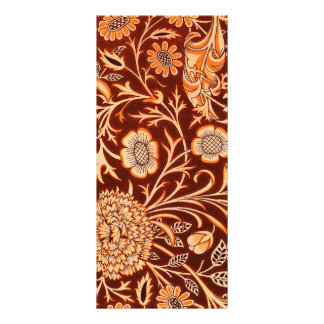 Floral in Fiery Red and Orange Full Color Rack Card