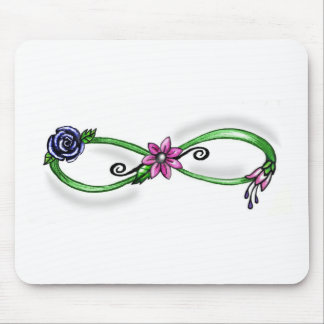 Floral Infinity Mouse Pads