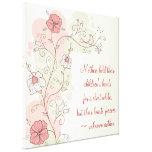 Floral inspirado para la lona envuelta mamá lona estirada galerías