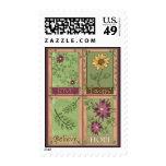 Floral inspirado sello