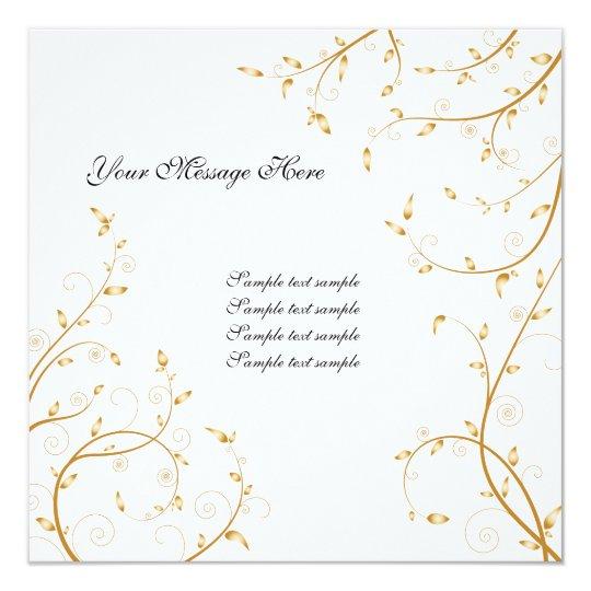 Floral Invitation Card 04