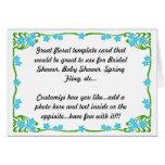 Floral invite y gracias a cardar tarjeta de felicitación