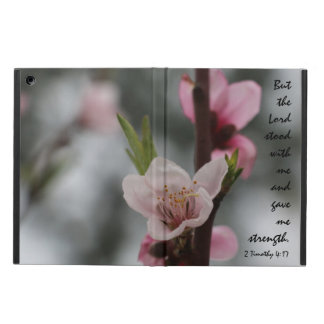 Floral iPad Air, Bible Verse about God's Strength Cover For iPad Air