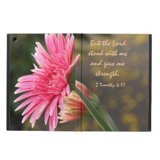 Floral iPad Air, Bible Verse about God's Strength iPad Air Cover