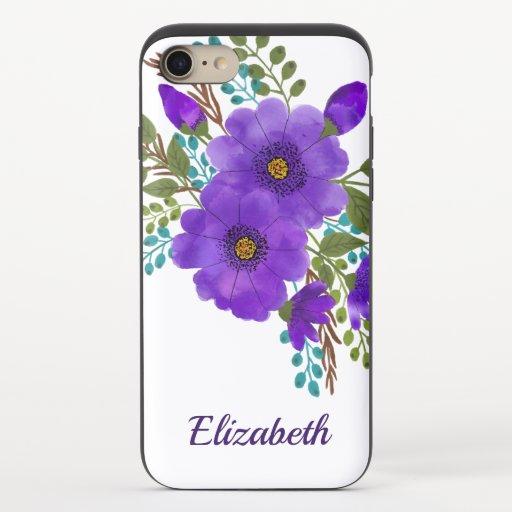 Floral iPhone 8/7 Slider Case