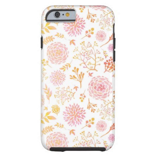 Floral iPhone case Tough iPhone 6 Case