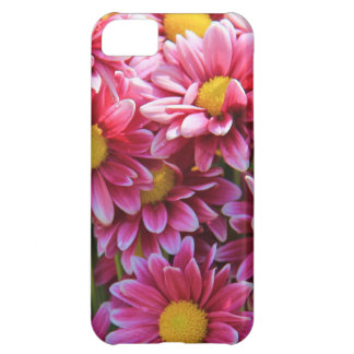 Floral iPhone, Pink Chrysanthemum w/ Yellow iPhone 5C Case