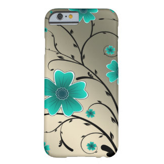 Floral Ivory aqua Barely There iPhone 6 Case