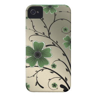 Floral Ivory green iPhone 4 Case-Mate Case