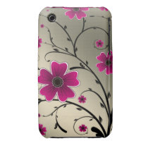Floral ivory Pink iPhone 3 Cover
