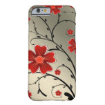 Floral Ivory red Barely There iPhone 6 Case