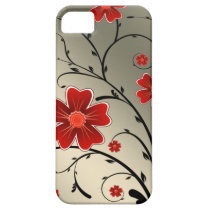 Floral Ivory red iPhone SE/5/5s Case