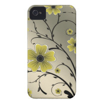 Floral Ivory yellow Case-Mate iPhone 4 Case