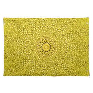 Floral jackfruit scale like pattern place mats
