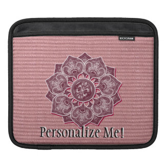 Floral Jacquard Cutout ANY COLOR Sleeve For iPads