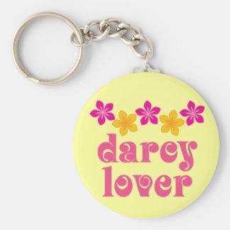 Floral Jane Austen Darcy Lover Gift Basic Round Button Keychain