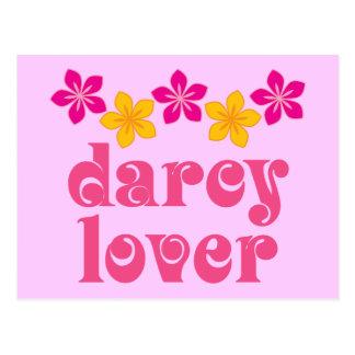 Floral Jane Austen Darcy Lover Gift Postcard