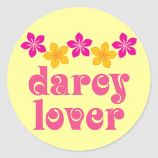 Floral Jane Austen Darcy Lover Gift Classic Round Sticker