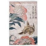 Floral Japanese Vintage Art Calendar