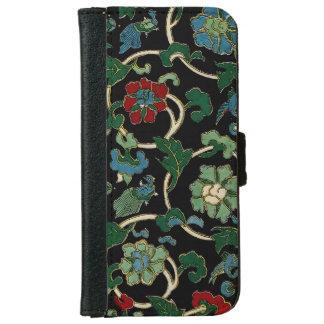 Floral japonés del vintage elegante funda cartera para iPhone 6
