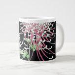 Floral japonés del vintage hermoso del crisantemo taza grande
