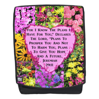 FLORAL JEREMIAH 29:11 BACKPACK