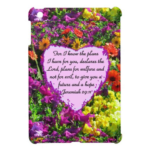 FLORAL JEREMIAH 29:11 PHOTO DESIGN CASE FOR THE iPad MINI
