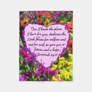 FLORAL JEREMIAH 29:11 PHOTO DESIGN FLEECE BLANKET