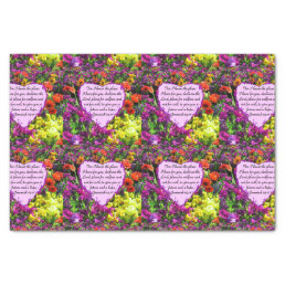 FLORAL JEREMIAH 29:11 PHOTO DESIGN TISSUE PAPER