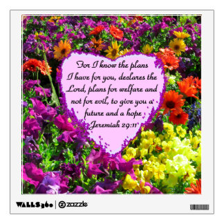 FLORAL JEREMIAH 29:11 PHOTO DESIGN WALL DECAL