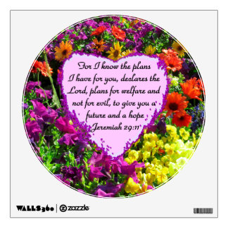 FLORAL JEREMIAH 29:11 PHOTO DESIGN WALL STICKER