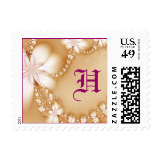 Floral Jewel, H Stamps