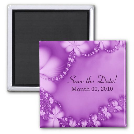 Floral Jewel Purple, Save the Date! Magnet