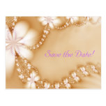 Floral Jewel, Save the Date! Postcard