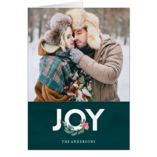Floral Joy Holiday Greeting Card