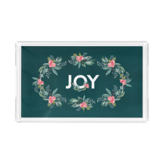 Floral Joy Holiday Tray
